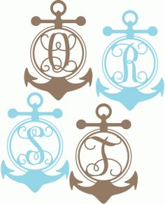 Welcome to the Silhouette Design Store, your source for craft machine cut files, fonts, SVGs, and other digital content for use with the Silhouette CAMEO® and other electronic cutting machines. Anchor Monogram, Monogram Alphabet, Silhouette Cameo Projects, Silhouette Design, Letter Ornaments, Scroll Saw Patterns Free, Paper Crafts, Arts And Crafts, Vinyl Projects