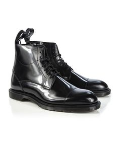 Dr Martens Men's Winchester 7 Eye Zip Boots - Black Polished Smooth