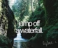 my goal for 2014! is gon happen. Jumping off a waterfall (: