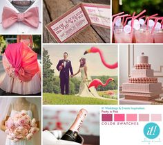 Pink, Pink & more Pink.  Vday wedding