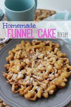 Always a favorite Homemade Funnel Cake Recipe! Get this Easy DIY Recipe to make your own Carnival Funnel Cakes! Sweet Recipes, Cake Recipes, Snack Recipes, Dessert Recipes, Cooking Recipes, Snacks, Pastry Recipes, Homemade Funnel Cake, Sandwiches