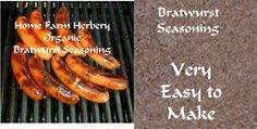 Bratwurst Seasoning, Order now, FREE ..., Food items in Hart County
