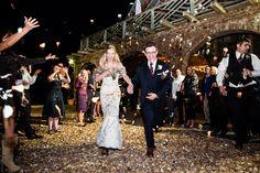 rose petal toss! | Bamber Photography #wedding