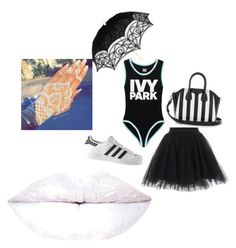 """""""ivy drug white"""" by rb-originals ❤ liked on Polyvore featuring Ivy Park, adidas and Givenchy"""