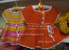 Magia do Crochet: Túnicas em crochet para menina com passo a passo