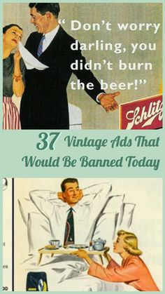 We& come so far in the fight for equality. But back in the day, it was far from the case. These vintage ads& prove it to ya. Haha Funny, Stupid Funny, You Funny, Funny Jokes, Hilarious, Funny Fails, Vintage Humor, Retro Humor, Vintage Ads