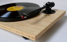 Audiowood Chirp Bamboo Turntable. THIS in your living room instead of a TV.