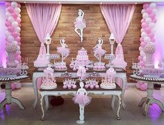 15 Temas de Festa Infantil para Fugir do Óbvio Ballerina Party Decorations, Ballerina Birthday Parties, Birthday Decorations, Baby Shower Decorations, Girl Birthday, Dance Themes, Princess Party, Holidays And Events, Balloons