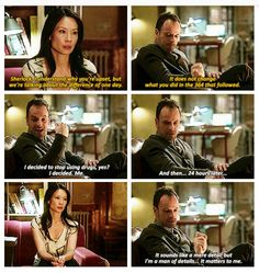 Elementary - Joan and Sherlock . I'm a man of details Elementary Tv Show, Elementary Sherlock, Elementary My Dear Watson, I Love Lucy, Love Can, Dead Man's Switch, Quotations, Qoutes, The Great Mouse Detective