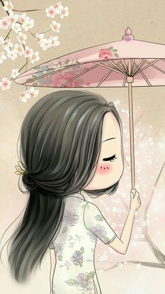 sakura girl part 3 Kawaii Chibi, Cute Chibi, Kawaii Cute, Anime Chibi, Art And Illustration, Illustrations, Girl Cartoon, Cute Cartoon, Chibi Girl