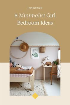 Minimalism with children is a tough style to keep in check. However, with clever storage solutions and minimal wall decor, you can have the best of both worlds. Not every wall needs to be pink either. Need more inspiration?Here are eight minimalist girl bedrooms that you'll even want to sleep in. #hunkerhome #minimalist #bedroom #girlbedroom #minimalistbedroom Minimalist Bedroom, Modern Bedroom, Minimalist Design, White Cupboards, Parents Room, White Picture Frames, Girl Bedrooms, Kid Spaces, My Room