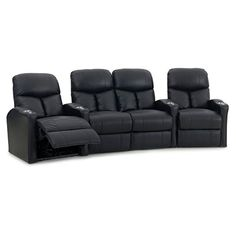 Octane-Bolt-XS400-4-Seater-Middle-Loveseat-Curved-Manual-Recline-Home-Theater-Seating