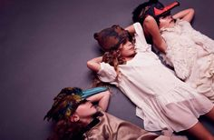 Kids animal headdresses. Papier mach magazine issue 7. Photographer Lauren Loncar.