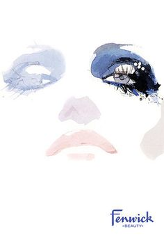 David Downton- love this because of the fine watered down use of paints, very faint illustration but effective.