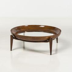 Giuseppe Scapinelli; Caviuna and Glass 'Maracana' Coffee Table, 1956.