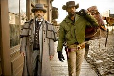 Christoph Waltz and Jamie Foxx in the next tarantino western: Django unchained