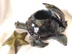 A personal favorite from my Etsy shop https://www.etsy.com/listing/232504958/a-large-sea-turtle-teapot-with-starfish