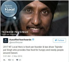 Selfless Sikh taxi driver Tejinder Pal Singh wins 2017 Australian of the Year series Award | SikhNet