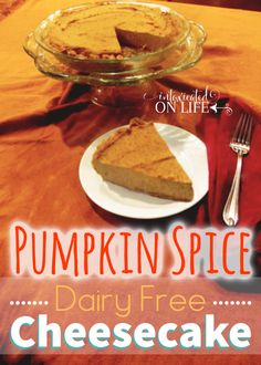 Try this delicious dairy-free, grain-free, sugar-free pumpkin spice cheesecake. Really, it's SO good you won't even miss all of those other things. Yum! @ IntoxicatedOnLife.com #Cheesecake #Pumpkin #GlutenFree #SugarFree #DairyFree