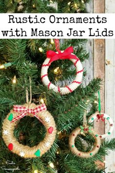 Mason jar lids or bands from Ball canning jars are seriously PERFECT for this upcycling idea! Rustic Christmas ornaments that look like Christmas wreaths are the cutest Christmas craft and so easy to make. Grab a group of gal pals for a festive Crafternoon or even make these handmade ornaments with your kids or grands. #diychristmasornaments #masonjarcrafts #xmasornaments #christmascraftideas #ornaments #christmasdiycrafts #handmadeornaments #rusticchristmas #farmhousechristmas…