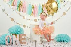 Segundo Ano - Festa no Céu - Cores Rosa, Dourado e Turquesa - Brilha Brilha Estrelinha - Twinkle Twinkle Little Star First Birthday