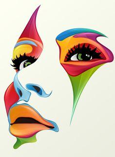 Cara de colores #arte