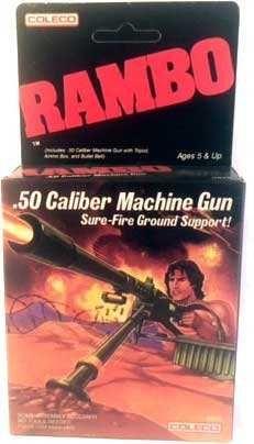 Coleco Rambo - Rambo .50 Caliber Machine Gun MISB  - Rambo