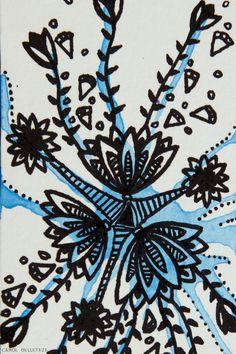 Floral Azul - Background e Wallpaper criados por Carol Delleteze. Desenhos originais, únicos, feitos a mão disponíveis para download.  #caroldelleteze #background #wallpaper #floral #azul #flower #desenholudico #arte #art #handmade #illustration