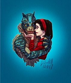 """The misfit lovers from Guillermo del Toro's """"The Shape of Water."""""""