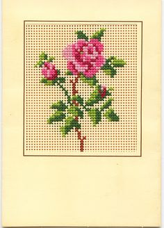 cross stitch rose- not a pattern