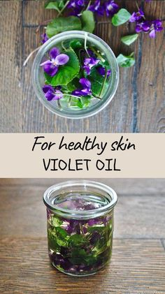 Make your own violet oil for healthy skin Extracted from leaves and flowers of wild violets this violet oil possesses many benefits for skin however might be able to help with insomnia or rheumatic pain.