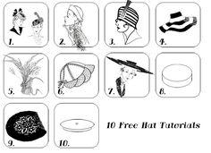 Moldes grátis de chapéus