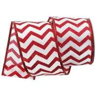 Get 2 1/2 Chevron Wired Edge Satin Ribbon online or find other Ribbon products from HobbyLobby.com