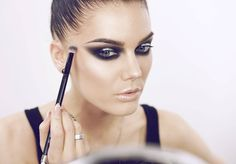 """""""Trying out some new light :) product list is on the blog  lindahallberg.com  #fotd #smokeyeyes"""""""