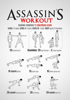 Assassin S Workout Fitness Workouts, Hero Workouts, Nerd Fitness, Gym Workout Tips, Workout Challenge, Bike Workouts, Swimming Workouts, Swimming Tips, Cycling Workout