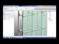 Creating cross bracing, brackets, curtain system a la Peter Zumthor - BIMethods 20140313 Class P2 02 w Additional Footage - YouTube