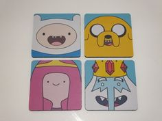 Adventure Time Coaster Set on Etsy, $10.00