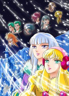 ヒルダとフレア - 聖闘士星矢 / Hilda, Freya and God Warriors of Asgard from anime Saint Seiya