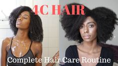 Complete 4c Hair Care Routine - Prepoo, Wash Routine, Twist Out and Night Routine