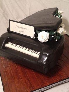 Senior recital cake