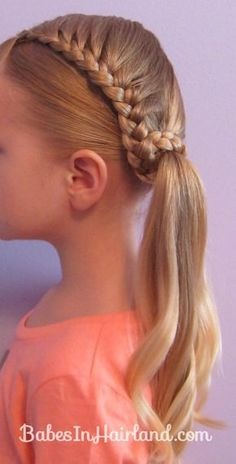 Lauren Conrad Inspired -  Half French Braid Wrapped Ponytail