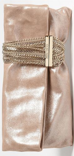 ~Jimmy Choo - Chandra' Leather Clutch | The House of Beccaria#