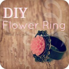 DIY Flower Ring DIY Jewelry DIY Ring