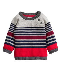 57 New Ideas Knitting For Kids Sweaters Jumpers Baby Boy Sweater, Knit Baby Sweaters, Boys Sweaters, Baby Cardigan, Baby Knitting Patterns, Knitting For Kids, Baby Outfits, Kids Outfits, H&m Kids