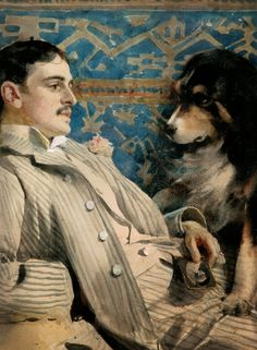 ANDERS ZORN, artist. Great Bernese. (love those dogs)
