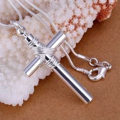 silver plated  fashion jewelry pendant Necklace, silver plated  necklace whistle cross pendant necklace P243 wlki irfh #Affiliate