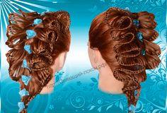 Прическа из кос Ажурная коса. Плетение Скат. Кружевное плетение. Braids....