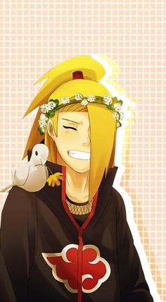 I forgot the Character's name but I do know that they're from the Akatsuki from Naruto Sasunaru, Sasori And Deidara, Deidara Akatsuki, Deidara Wallpaper, Naruto Wallpaper Iphone, Wallpaper Naruto Shippuden, Naruto Shippuden Sasuke, Naruto Kakashi, Anime Naruto