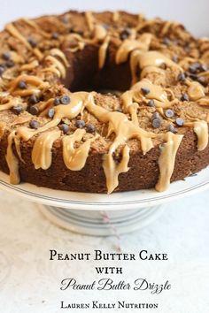 Vegan and Gluten Free Peanut Butter Cake - Lauren Kelly Nutrition