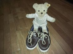 Even Teddy's love Sperrys! #rockytheteddybear